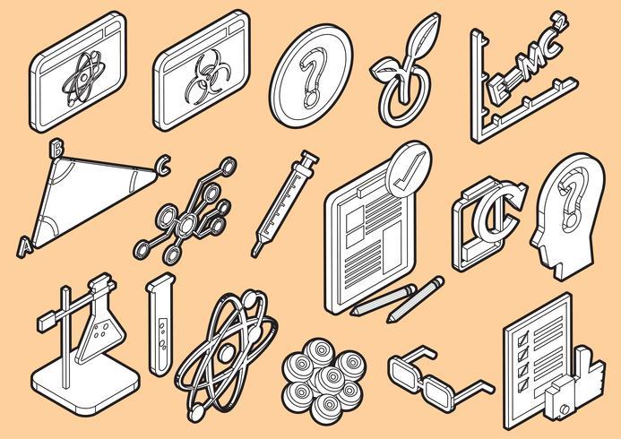 illustration du concept d'icônes science graphique info vecteur