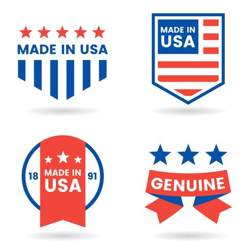 Étiquette de vecteur Amérique pour bannière