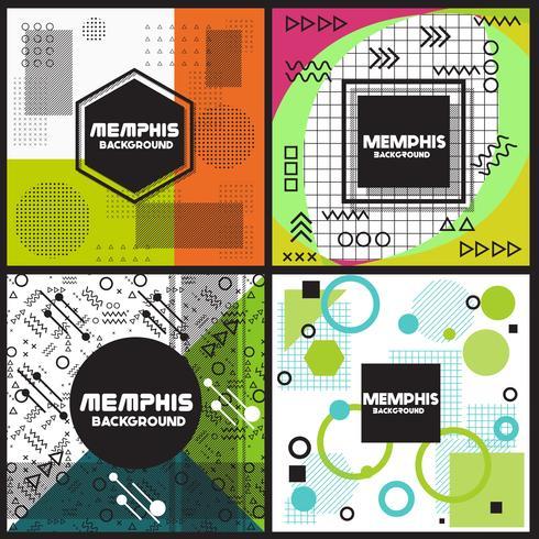 Modèle de conception de style d'arrière-plan Memphis vecteur