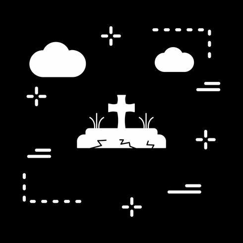 icône de tombe vectorielle vecteur