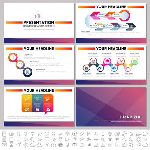 Éléments modernes d'infographie pour les modèles de présentations pour la bannière vecteur