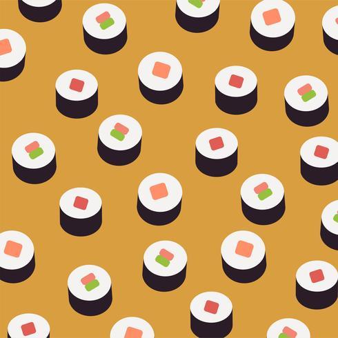 Fond de sushi. vecteur