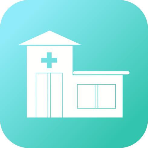 Icône remplie de salle d'urgence vecteur