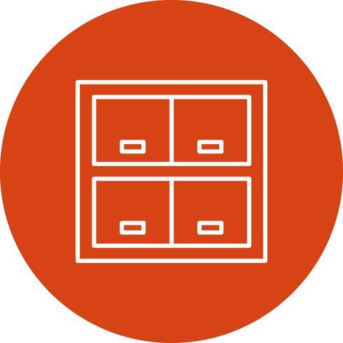 Icône de casier de vecteur