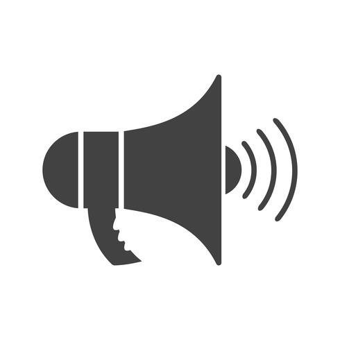 Icône de glyphe d'annonce noire vecteur