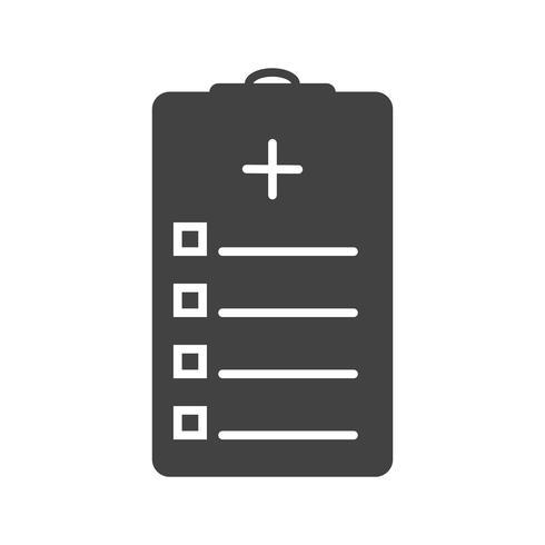 Diagramme médical icône de glyphe noir vecteur