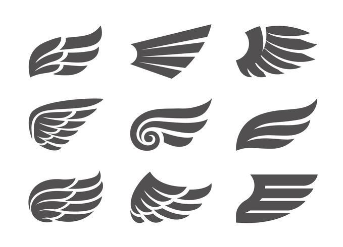 Ensemble d'ailes de vecteur