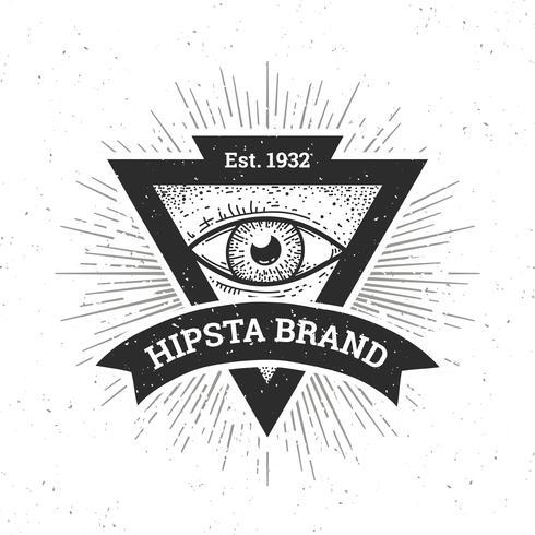 Bannière Hipster vecteur