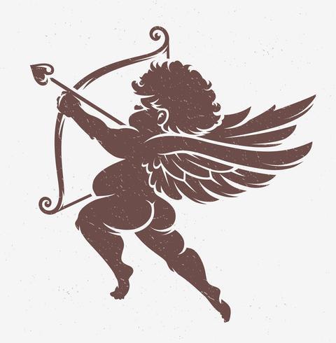 Silhouette de Cupidon Vector
