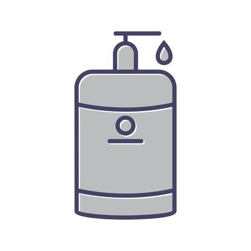 Icône ligne remplie de lotion vecteur