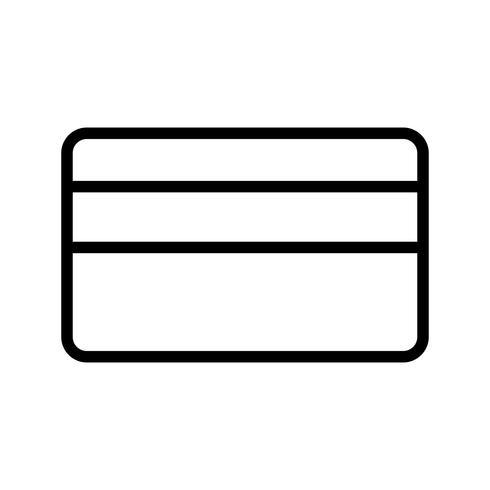 Icône de ligne noire de carte de crédit vecteur