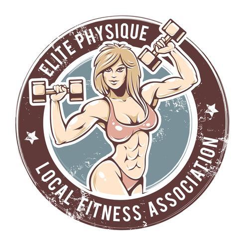 vecteur de gym dame