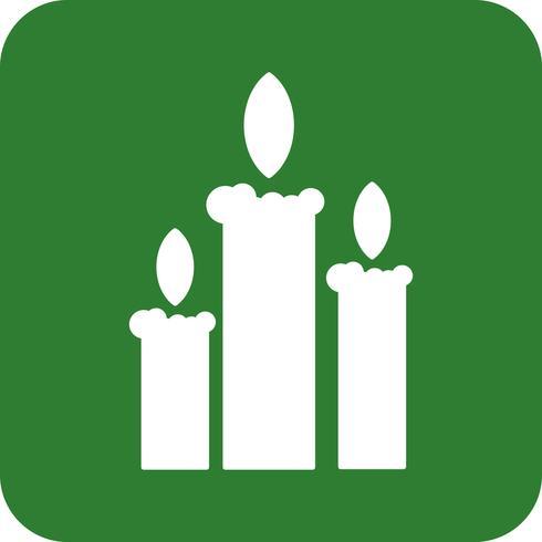 icône de bougies de vecteur