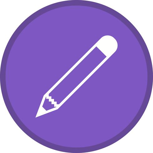 Icône remplie de crayon vecteur