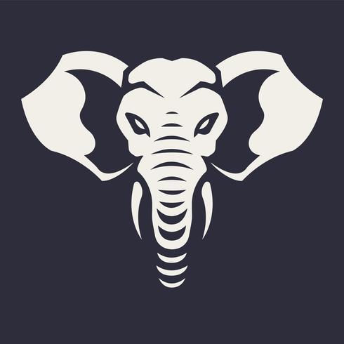 Éléphant mascotte Vector Icon