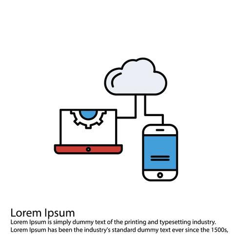 Icône d'ordinateur portable de vecteur