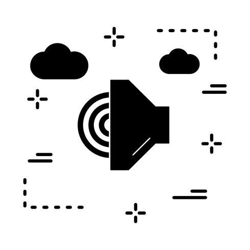icône de haut-parleur de vecteur