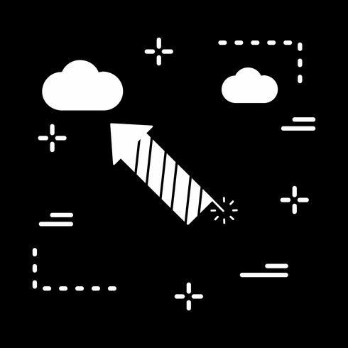 icône de fusée de vecteur