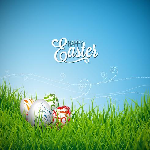 Joyeuses fêtes de Pâques Illustration vecteur