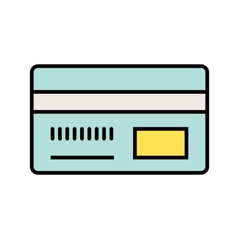 Icône de ligne remplie de méthode de paiement vecteur