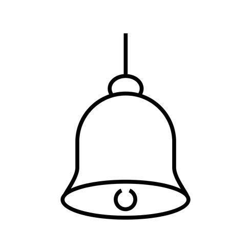 Icône ligne noire Bell vecteur