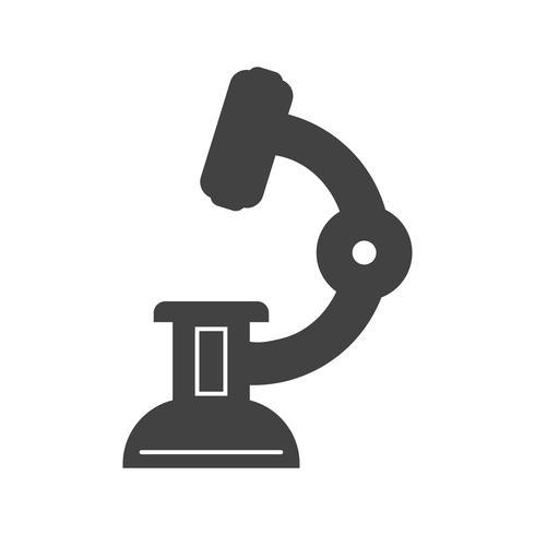 icône de microscope glyphe noir vecteur