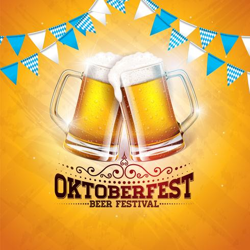 Illustration de la bannière Oktoberfest vecteur