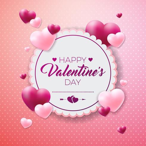 Happy Valentines Day Design vecteur