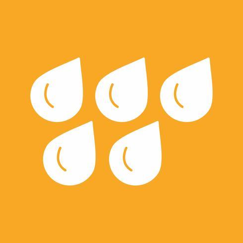 icône de gouttes d'eau de vecteur