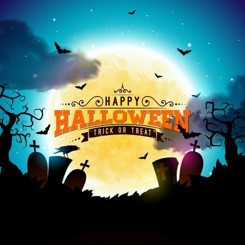 Heureux illustration d'Halloween vecteur