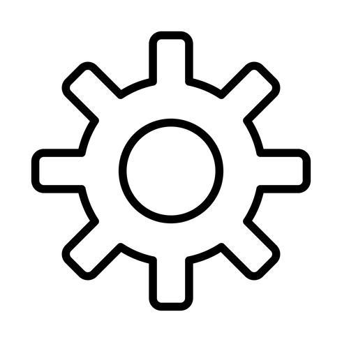 Icône de ligne de paramètres noir vecteur