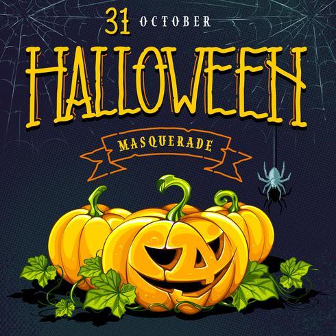 Conception de vecteur de carte Invitation Halloween