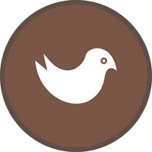 Glyphe Twitter rond cercle multicolore vecteur