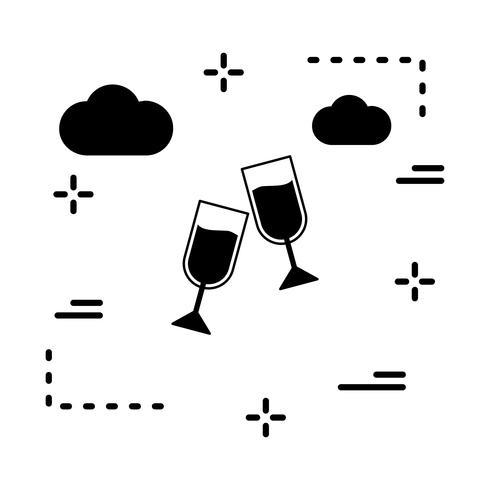 icône de lunettes de vecteur