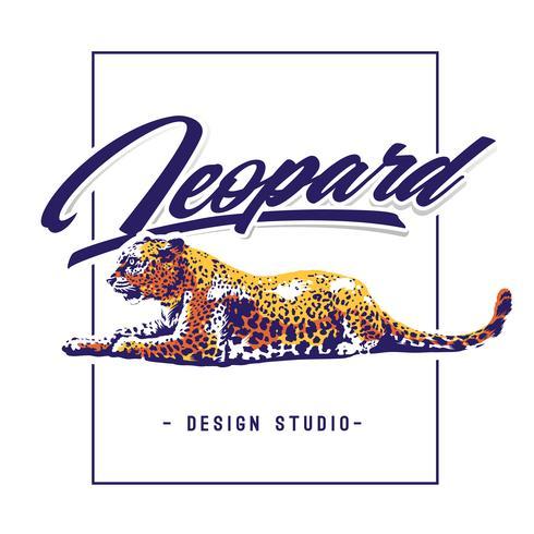 Léopard, vecteur, conception vecteur