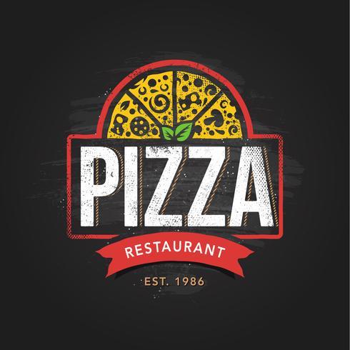 Modèle de logo Pizzeria vecteur
