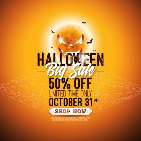 Illustration de vente d'Halloween vecteur