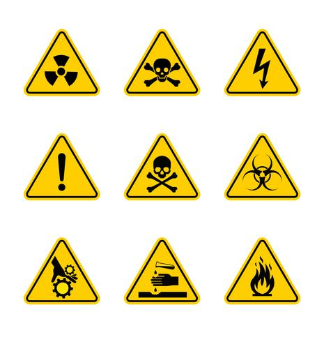 Bandes et signaux d'avertissement de vecteur. vecteur