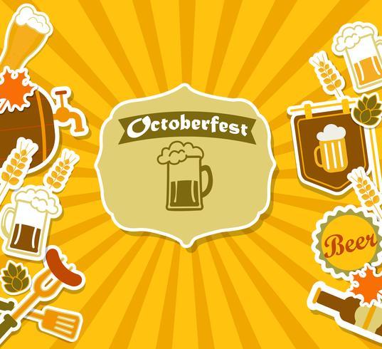 Affiche de brasserie de bière vintage. vecteur