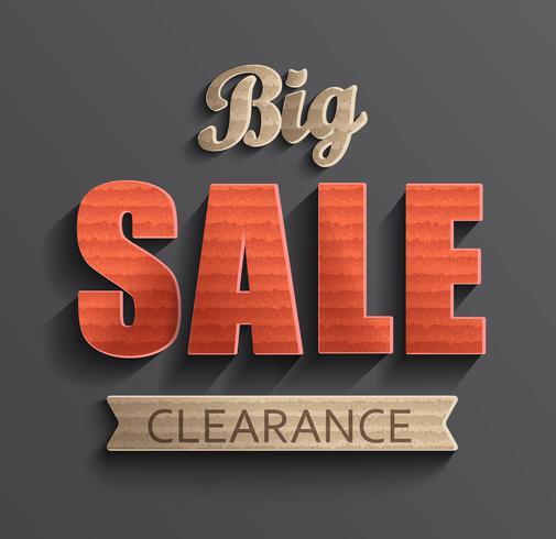 Affiche grande vente. vecteur