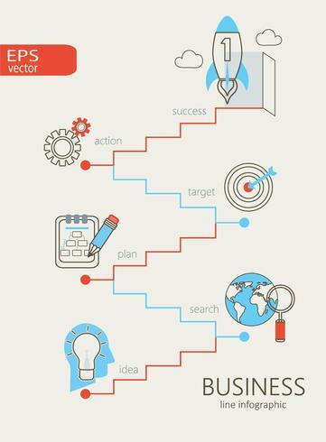 Infographie des affaires. vecteur
