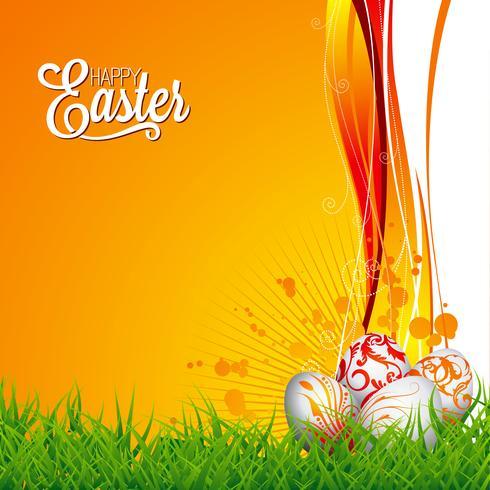 Illustration de vacances de Pâques vecteur
