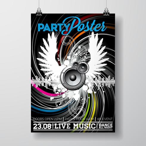 Conception flyer fête vecteur