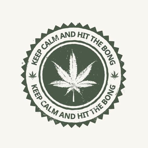 Emblème du cannabis vecteur