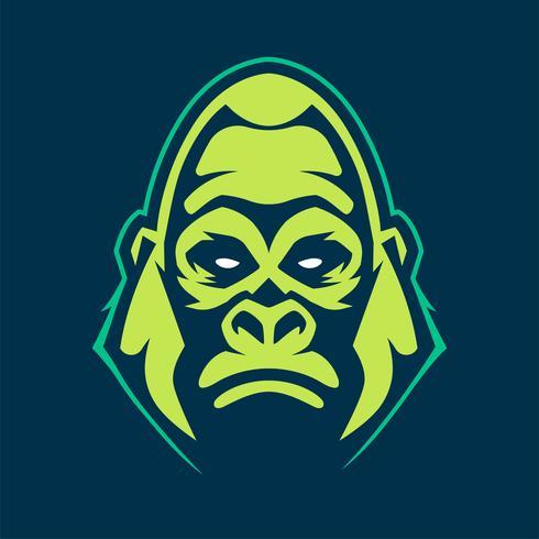 icône de vecteur de mascotte de gorille