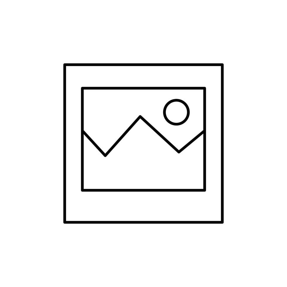 silhouette de licône isolé de symbole de fichier image
