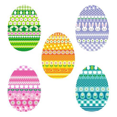 oeufs de Pâques à motifs vecteur