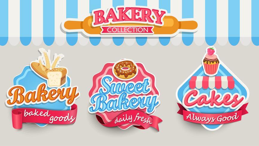 Modèle de conception de boulangerie. vecteur