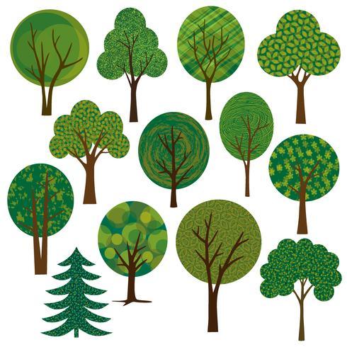 vecteur d'arbres clipart