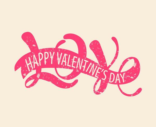 Amour Joyeux Saint Valentin vecteur